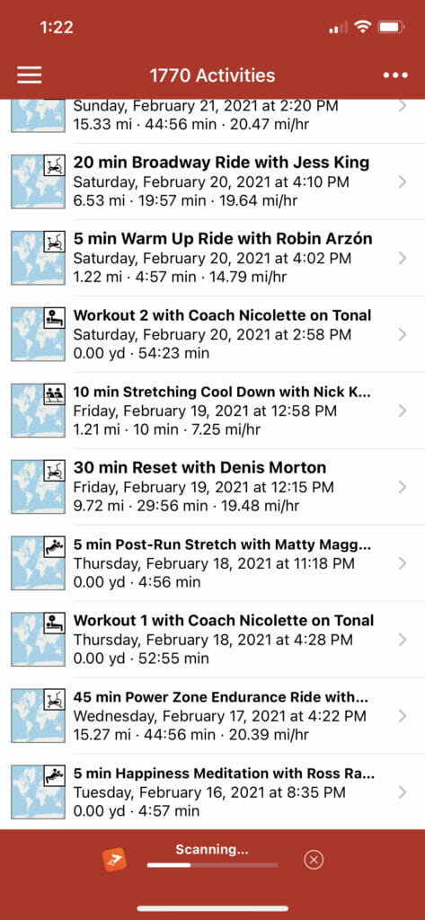 Screenshot of RunGap syncing with Strava