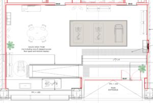 Screenshot of building permit application