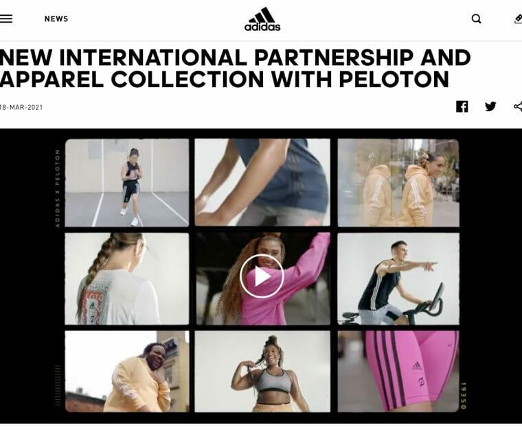 adidas put out a press release for the peloton x adidas collaboratiton