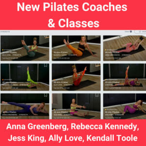 Peloton has added new pilates coaches Anna Greenberg, Rebecca Kennedy, Jess King, Ally Love, and Kendall Toole.