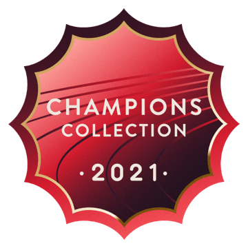 The new Peloton Champions Collection badge.