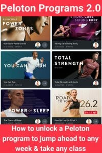 Guide to unlocking Peloton programs, jump to any week & take classes