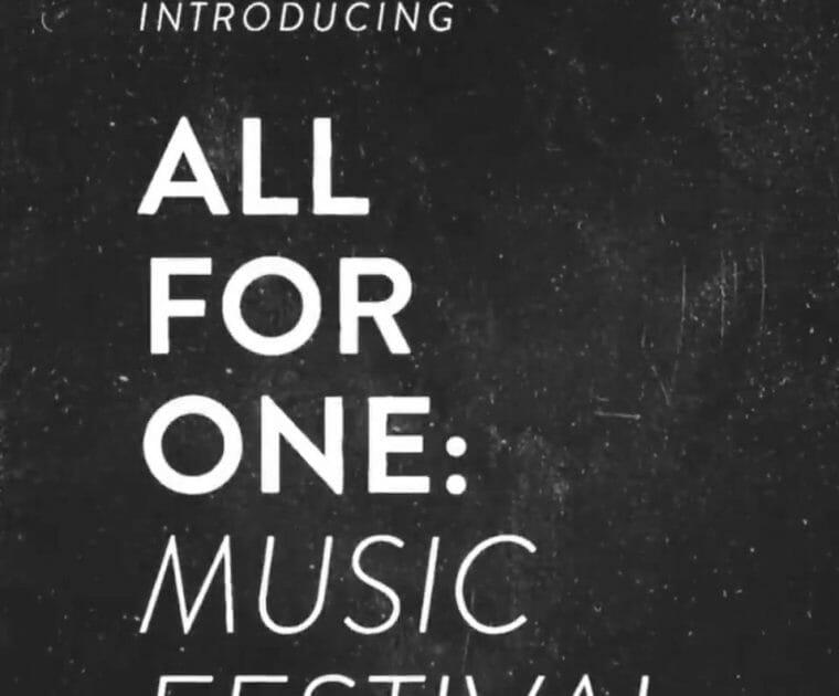 2021 Peloton All For One Music Festival Tease