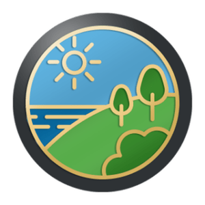 """Image of the """"Get Out And Move"""" Badge you earn by completing the flash challenge."""