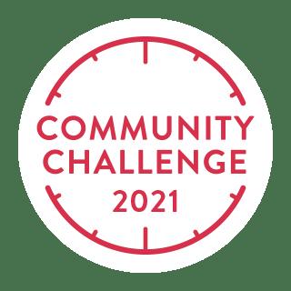 Image of the Peloton Community Challenge 2021 badge.