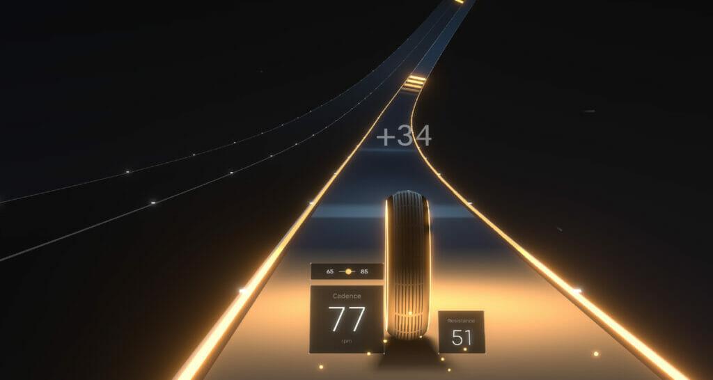 Image of Peloton Lanebreak video game, credit Peloton Press release.