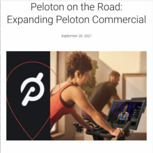 Image credit Peloton Press Release.