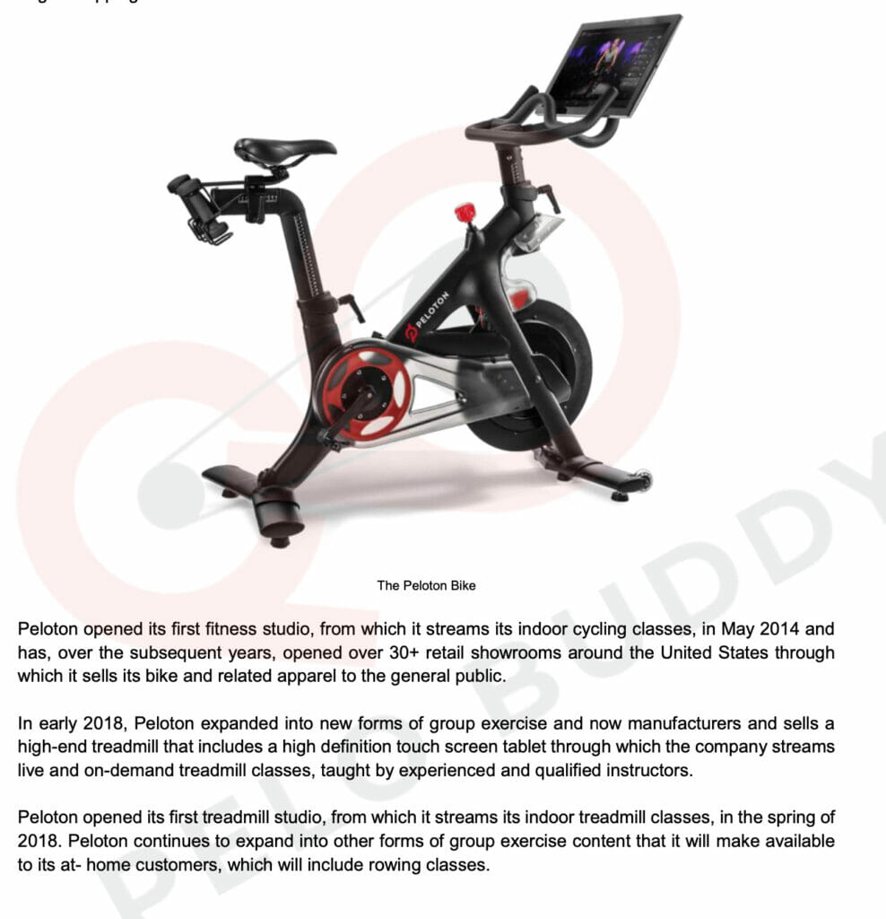 Image from Peloton planning documents.